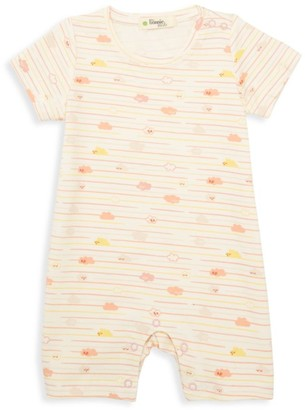 The Bonnie Mob Baby Girl's Lazy Hazy Summer Days Striped Cloud-Print Short Playsuit