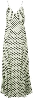Proenza Schouler White Label Multicolor Gingham Georgette Slip Dress