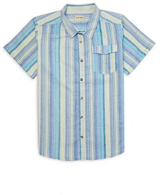 Me & Henry Little Boy's & Boy's Striped Button-Front Short-Sleeve Shirt