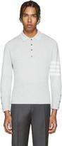 Thom Browne Grey Cashmere Polo
