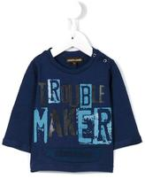 Roberto Cavalli trouble maker print T-shirt - kids - Cotton - 3 mth
