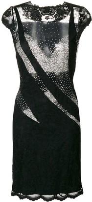 Olvi ́S Sheer Panel Dress