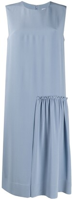 Salvatore Ferragamo Gathered-Detail Sleeveless Dress