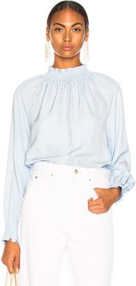 Veronica Beard Abel Top in Light Blue | FWRD