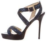Jimmy Choo Glitter Vamp Sandals