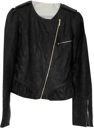 Fendi Navy Leather Leather Jacket for Women