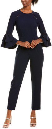 Eliza J Bell-Sleeve Jumpsuit
