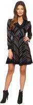 Just Cavalli Lurex Knit Chevron Long Sleeve Dress Women's Dress