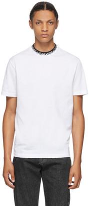 Versace White Logo Collar Taylor T-Shirt