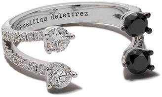 Delfina Delettrez 18kt white gold Domino Dots diamond ring
