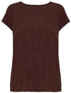 Rabens Saloner - Brick Brown Paper Open Back Jersey T Shirt - xs