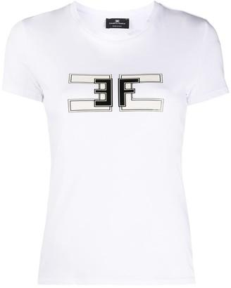 Elisabetta Franchi logo-print crew neck T-Shirt