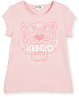 Kenzo Short-Sleeve Tiger Jersey Tee, Light Pink, Size 2-5