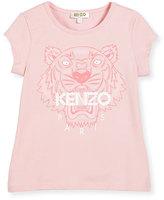 Kenzo Short-Sleeve Tiger Jersey Tee, Light Pink, Size 2-5