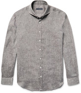 Thom Sweeney - Slim-fit Cutaway-collar Linen Shirt