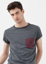 MANGO MAN Contrast Chest-Pocket T-Shirt