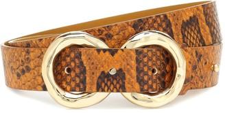 REJINA PYO Infinity python-effect leather belt
