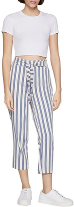 BCBGeneration Stripe Cropped Waist Tie Pants