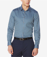 Perry Ellis Men's Geometric Jacquard Shirt