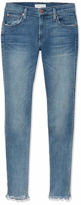 James Jeans Women's Twiggy Mid-Rise Legging Frayed Hem in Venice 30