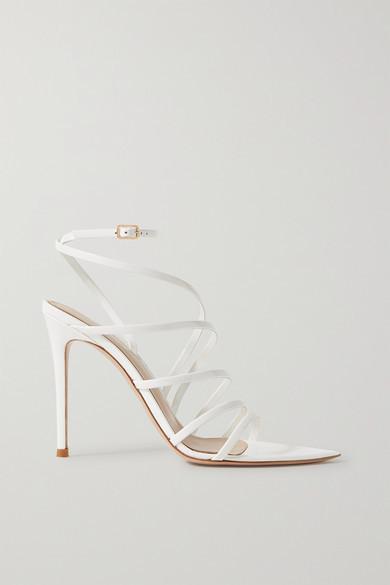 Gianvito Rossi 105 Patent-leather Sandals - White