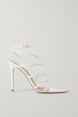 Gianvito Rossi 105 Patent-leather Sandals - White
