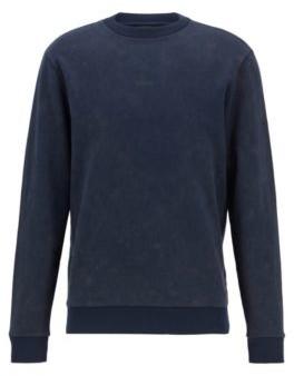 HUGO BOSS French-terry sweatshirt with acid-wash effect
