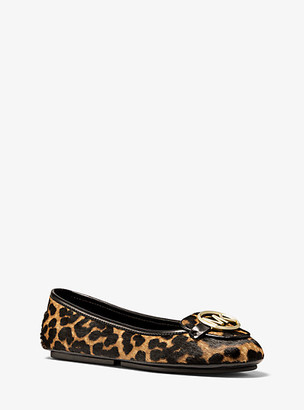 Michael Kors Lillie Leopard Calf Hair Moccasin