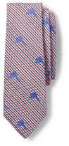 Lands' End Men's Long Seersucker Marlins Necktie-Marlin Stripe