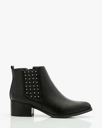 Le Château Studded Pointy Toe Chelsea Boot
