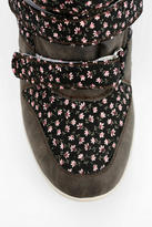 BDG Floral Strap Hidden Wedge High-Top Sneaker