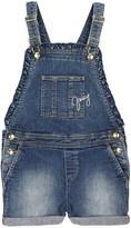 Juicy Couture Girls Denim Ruffled Overalls