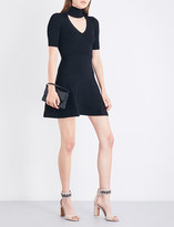 Cushnie et Ochs High neck cutout knitted minidress
