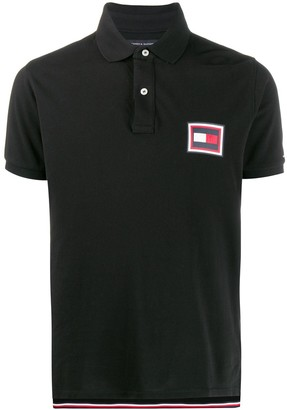 Tommy Hilfiger logo patch polo T-shirt