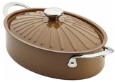 Rachael Ray 5 Quart Oven-To-Table Hard Enamel Nonstick Covered Saute Pan - Mushroom Brown