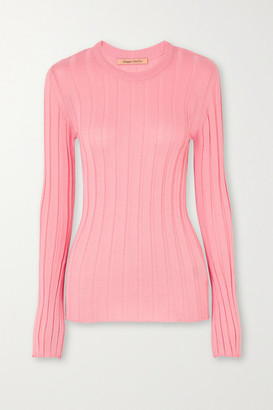 Maggie Marilyn Net Sustain The Sherbet Wool-blend Ribbed-knit Sweater - Pink