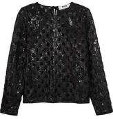 MSGM Sequined Organza Top