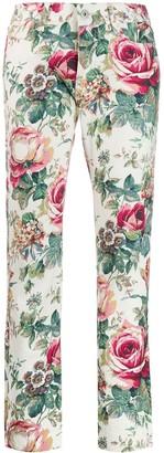Junya Watanabe Comme Des Garçons Pre Owned 2000s Floral Print Trousers