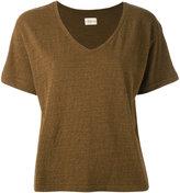 Simon Miller V-neck T-shirt - women - Silk/Cotton - 3