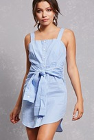 Forever 21 FOREVER 21+ Striped Tie-Waist Shirt Dress