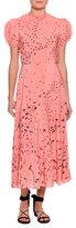 Valentino Metamorphosis Printed Tea-Length Dress, Pink/Multi