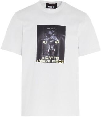 MSGM X Dario Argento Il Gatto A Nove Code T-Shirt