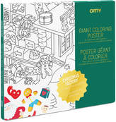 OMY Father Christmas's Workshop Giant Colouring Poster