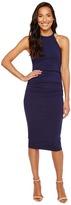 Michael Stars Halter Midi Dress w/ Shirring Women's Dress