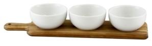 Gracious Dining 3 Piece Tidbit Bowl Set on Wood Paddle