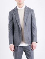 Brunello Cucinelli Pinstripe slim-fit wool jacket