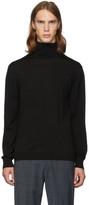 Tibi SSENSE Exclusive Black Merino Wool Slim-Fit Turtleneck