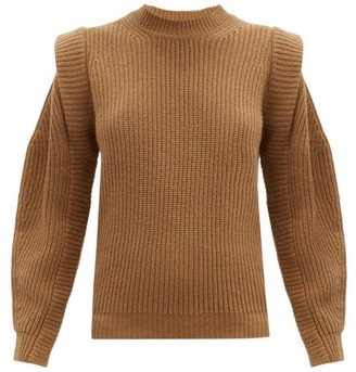 Isabel Marant Bolton Wool And Cashmere-blend Sweater - Camel