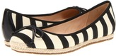 Kate Spade Valley (Cream Canvas Black Grosgrain) - Footwear
