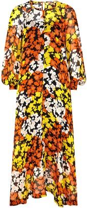 McQ Hisano floral-print silk-chiffon maxi dress
